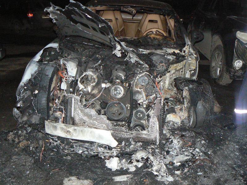 Ось так виглядає авто, яке коштує не один мільйон гривень, після пожежі