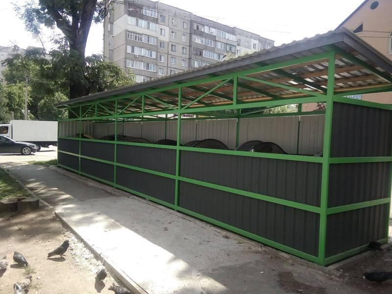 У місті встановлено ще три критих сміттєвих майданчики