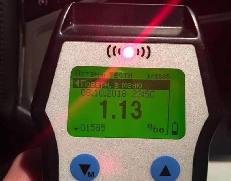 Патрульні за ніч виявили п'ять водіїв із ознаками алкогольного сп'яніння