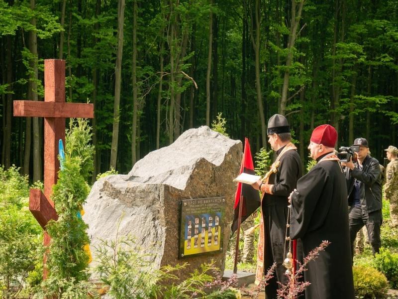 Меморіальне насадженя створили на честь лісівників - героїв АТО