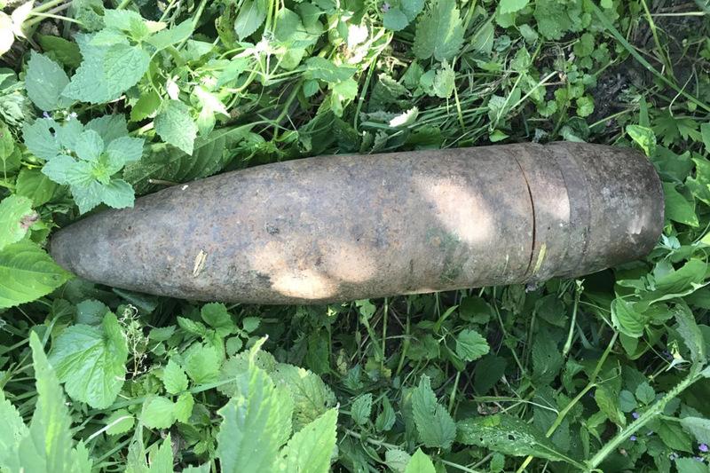 В урочищі знайшли снаряди та бомбу
