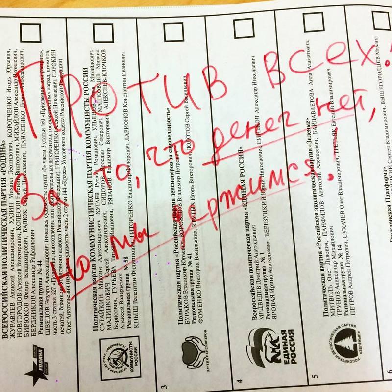 У Криму, де росіяни провели вибори до своєї Думи, чимало людей прийшло на дільниці, щоб зіпсувати бюлетні