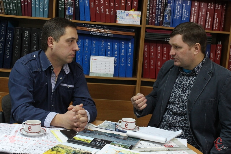 Віктор Шайда (ліворуч) каже, що він оптиміст, а тому дивіться у майбутнє з думками про хороше