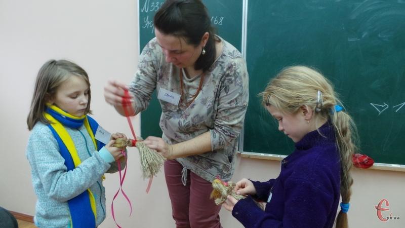 Діти працювали під керівництвом Світлани Щуцької