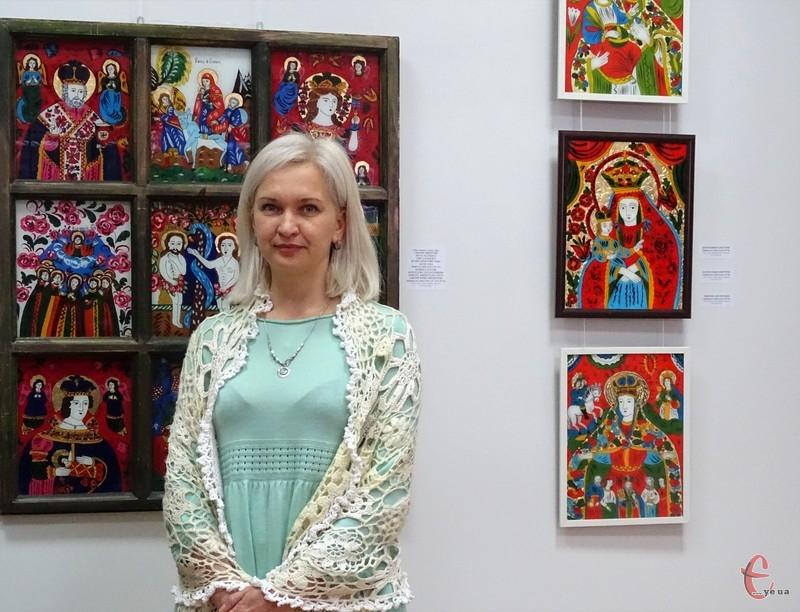 Тетяна Цимбарецька презентувала виставку ікон