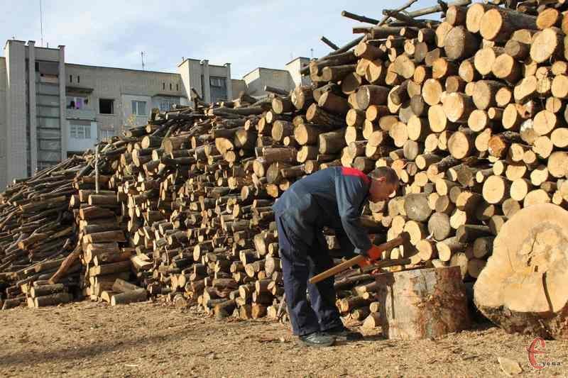 Чотири кубометри сухих дров у середньому замінюють тисячу кубометрів газу