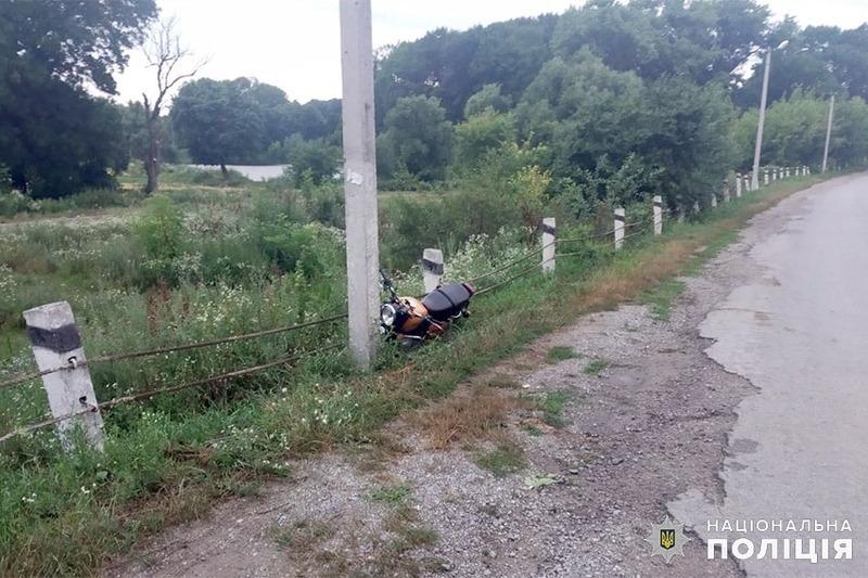 Мотоцикліст врізався у стовп