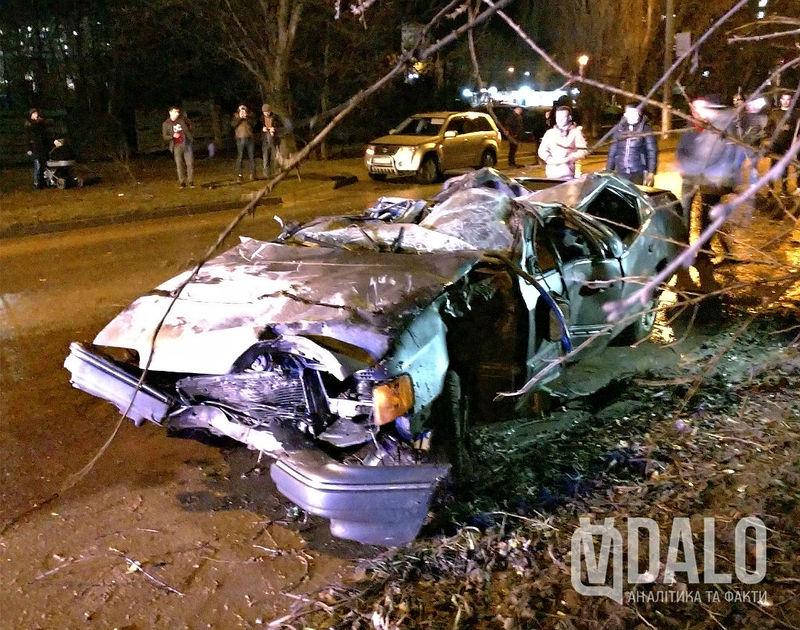 Аварія сталася вчора ввечері