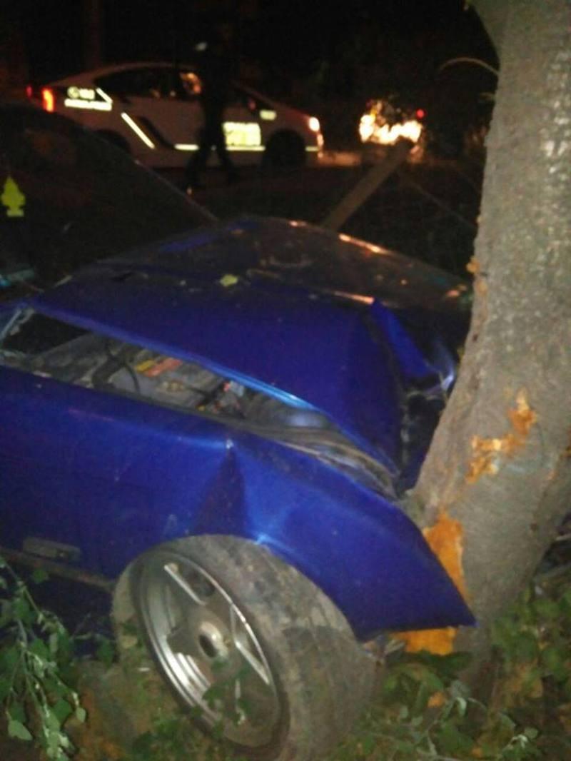 Автомобіль врізався в дерево