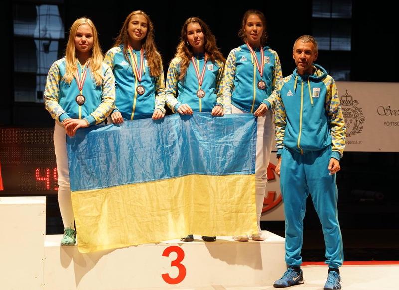 Українські шпажистики здобули бронзові медалі в Австрії