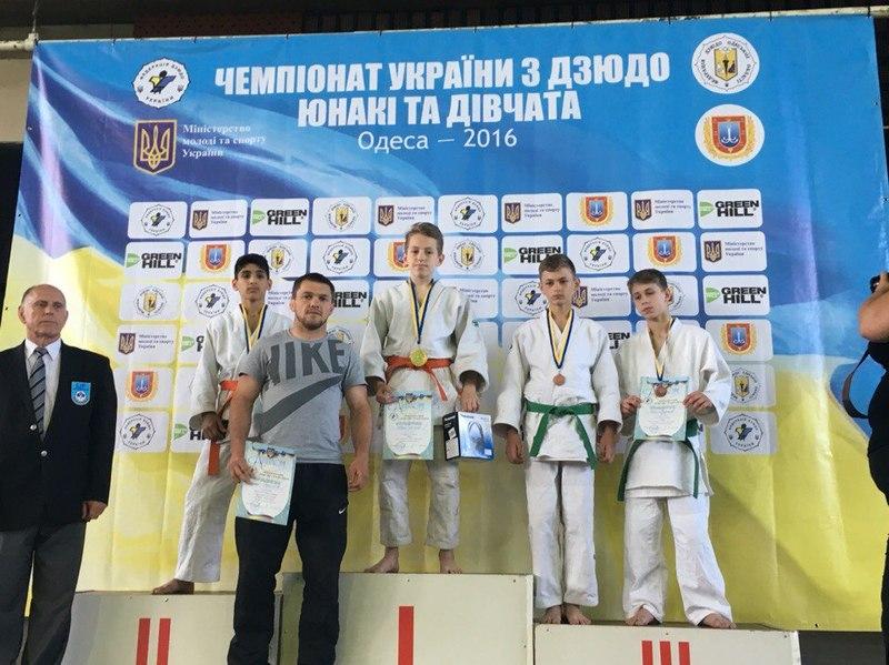 Назар Акішев став чемпіоном України у ваговій вазі до 42 кілограмів серед дзюдоїстів віком до 14 років