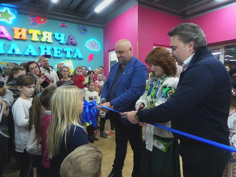 На третьому поверсі ТРЦ «Kvartal» урочисто відкрився парк розваг «Дитяча планета»