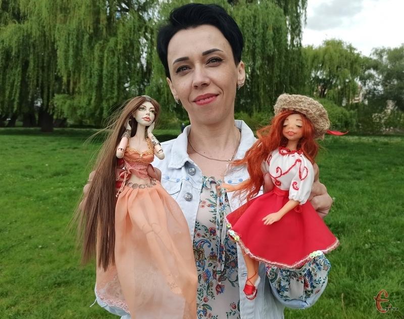 Майстриня зізнається, що її лялькарська творчість тільки починається. Фото: автора