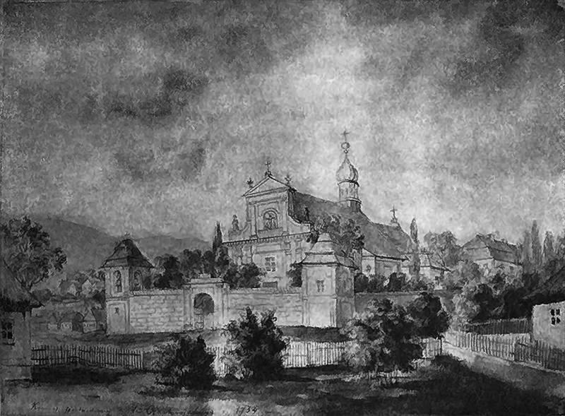 Костел Божої Матері святого Скапулярію на картині Наполеона Орди.