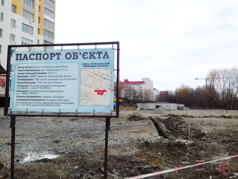 Неподалік управління Нацполіції в Хмельницькій області має з'явитися крита парковка. На скільки автомобілів - поки невідомо