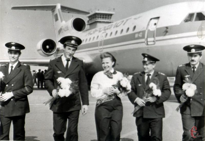 Перший рейс Як-42 в Хмельницькому, 1988 рік