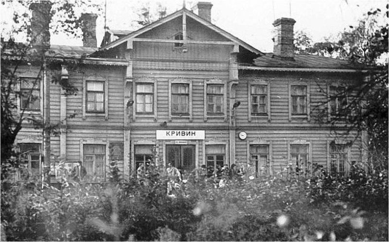 Старий дерев\'яний залізничний вокзал станції Кривин