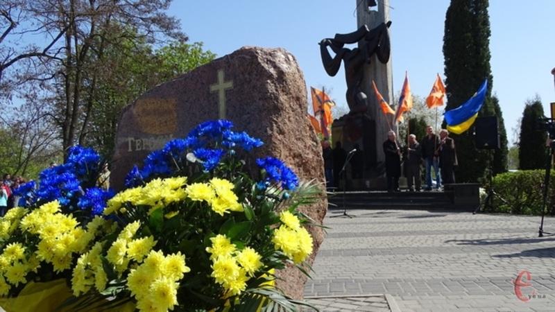 Минулого року біля пам'ятника «Героям та жертвам Чорнобиля» хмельничани провели мітинг