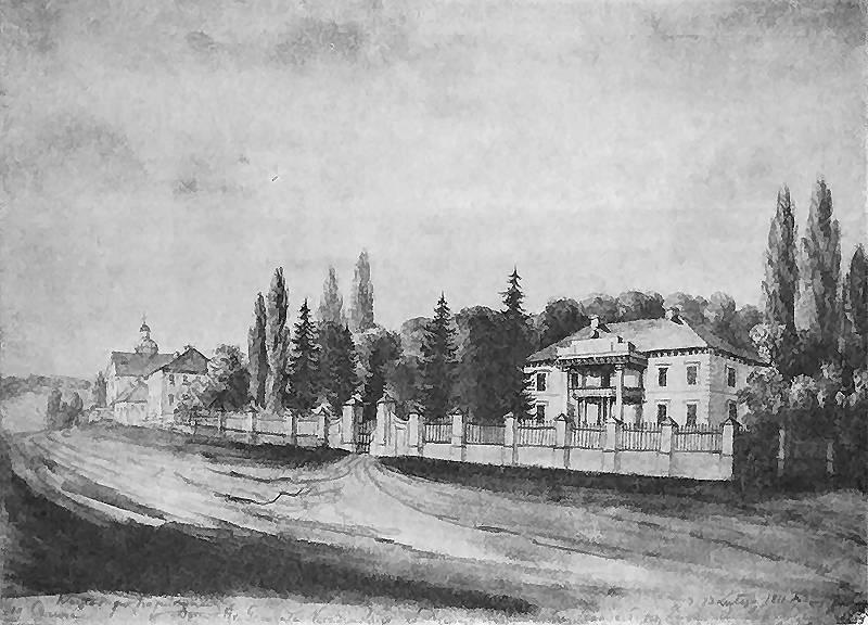 У Дунаївцях створення початкових шкіл зародилося у другій половині ХІХ століття. На зображені: маєток Красінських в Дунаївцях