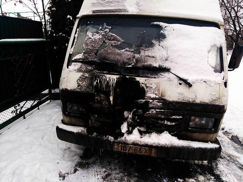 Автомобіль, за словами Аліма Міщука, підпалили вночі.