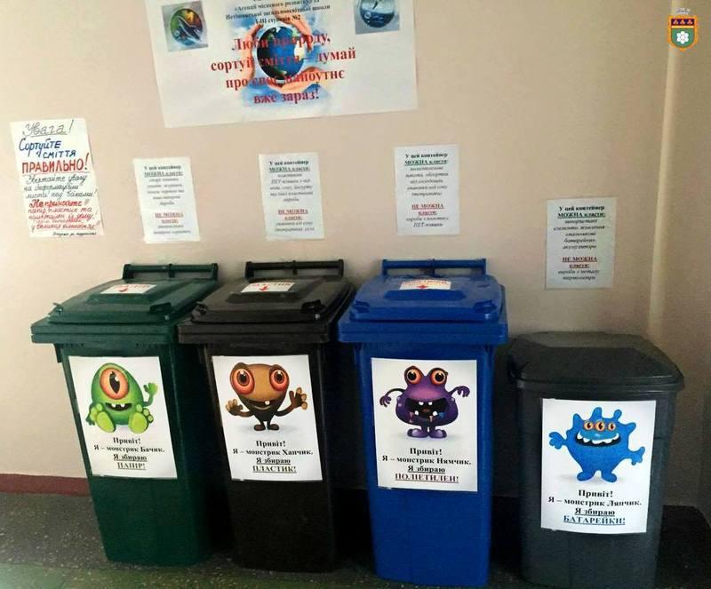 Школярам розповідають про користь сортування сміття