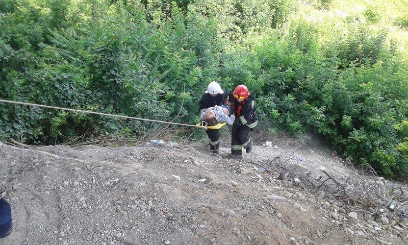 Кам'янчанка впала на скельний виступ каньйону річки Смотрич
