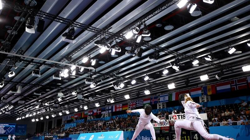 27 червня відбудуться команді змагання серед жінок з фехтування на шаблях. У складі збірної України  змагатимуться Ольга Жовнір та Аліна Комащук