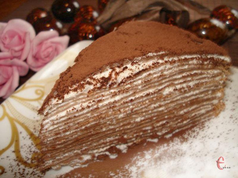 Такий тортик можна робити з будь-яким кремом.