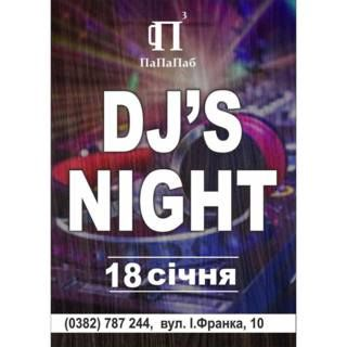 Вечір у ПаПаПабі з DJ'S NIGHT