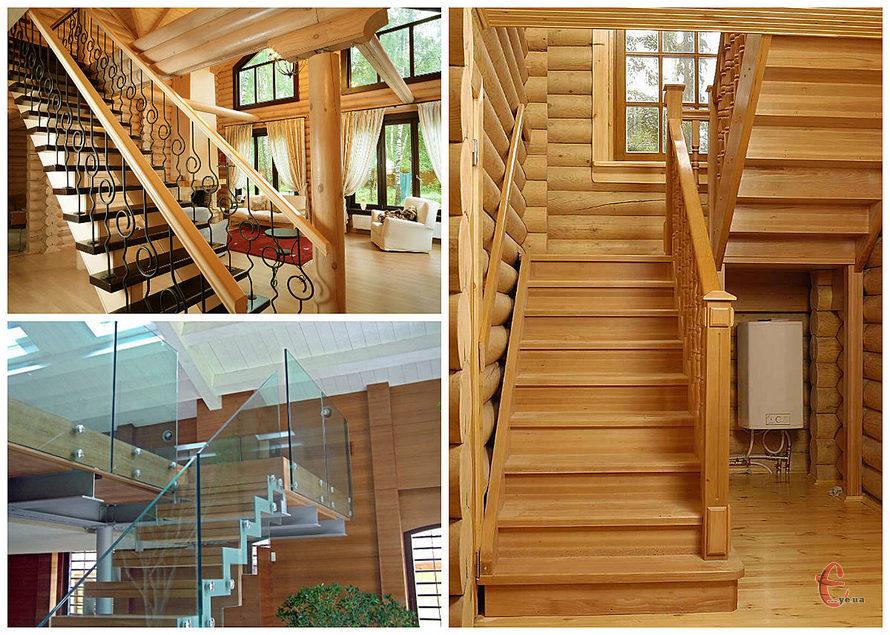 Дерев'яні, бетонні сходи, марші
