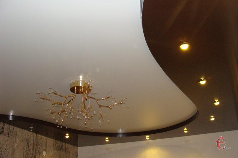Двухуровневые натяжные потолки от производителя