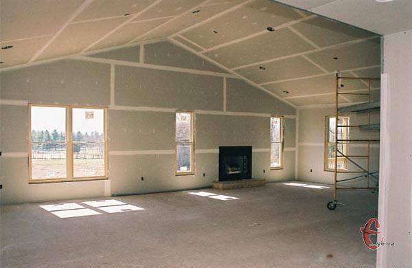 Потолки, стены из гипсокартона