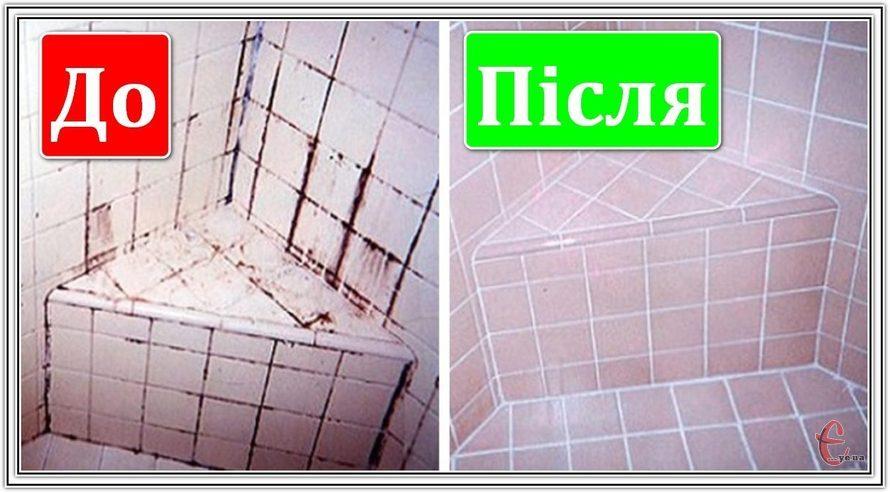 Професійне відновлення швів між керамічною плиткою.