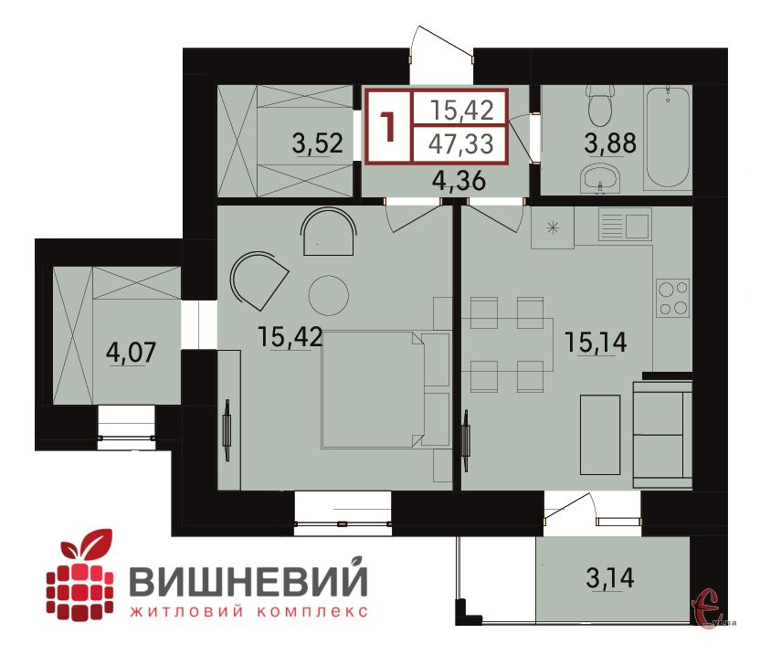 Продам 1-кімнатну квартиру на ближніх Гречанах