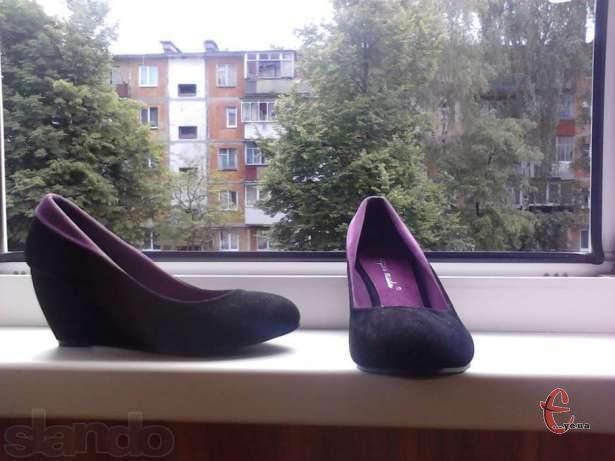Туфли замшеві