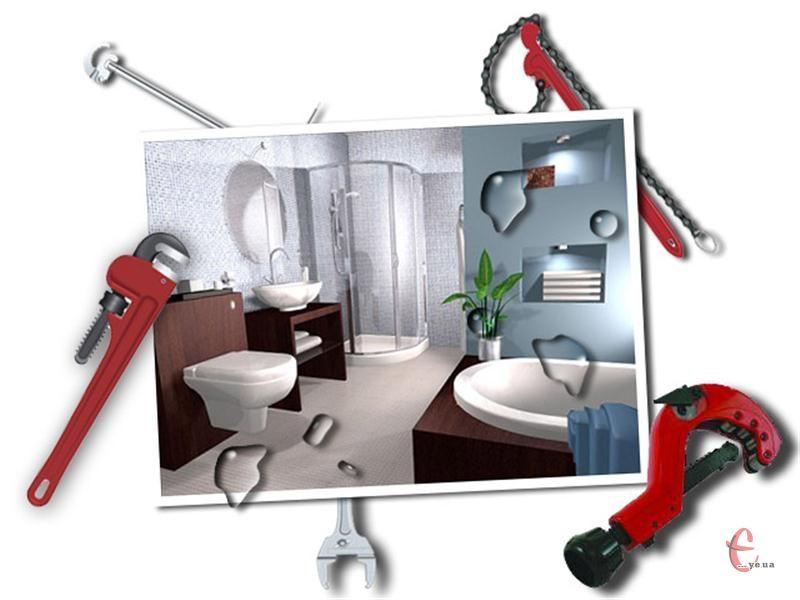 Монтаж сантехніки у котеджі