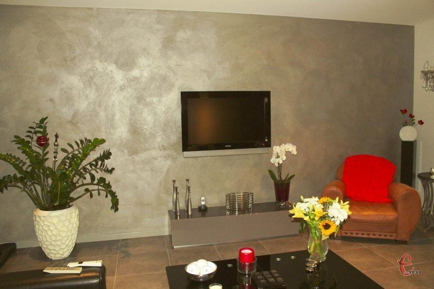 Отделка стен декоративной штукатуркой, декор стен
