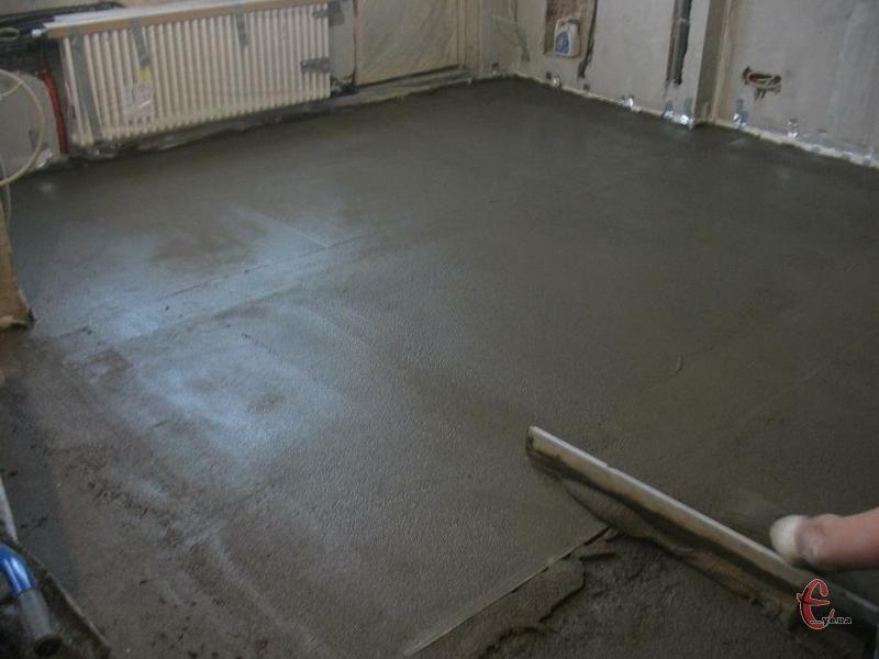 Мокра стяжка підлоги