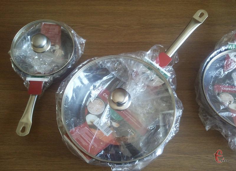 Экологическая сковорода 20 см. со стекл. крышкой - индукция на подарок