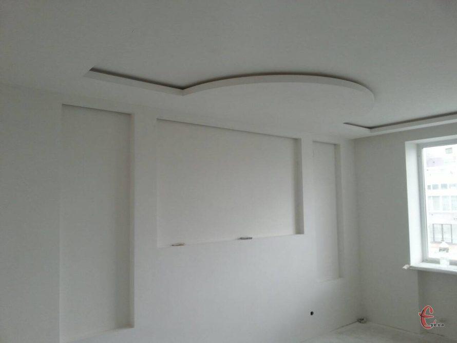 Шпаклювання стелі у будинку