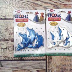 Держатели - дельфинчики для полотенец, на двухстороннем скотче, до 3 кг