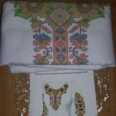 Жіноча заготовка сорочки на домотканому полотні для вишивки