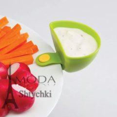 Тарелка для соуса с клипсой