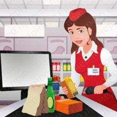 Вакансія агентства: продавець в магазин продуктів харчування.
