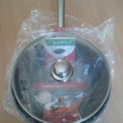 Сковорода 28 см. с крышкой - индукция, экологичная сковородка подарок