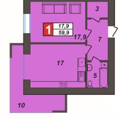 Простора 1-кімнатна квартира на Зарічанській. ЖК Олімпійський-2