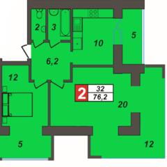 """Продам 2-кімнатну квартиру на вул.Зарічанській, ЖК""""Олімпійський-2"""""""