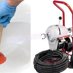 Прочистка каналізації тросом