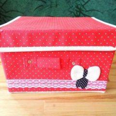 Ящик-органайзер с крышкой, текстильный - для игрушек, мелочей