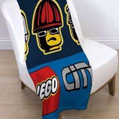 """Детский флисовый плед 120х150 """"LEGO City"""" Лего для мальчика"""
